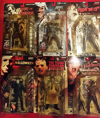 Movie Maniacs Figuren Sammlung Ungeöffnet OVP Freddy Jason Michael Leatherface..