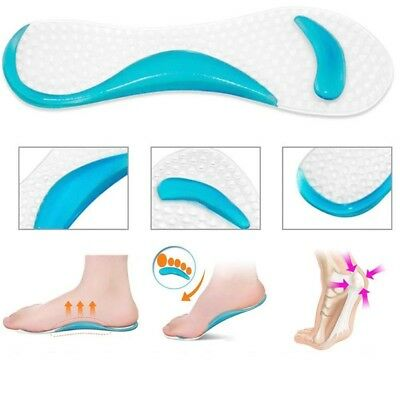 1Pair Soft Gel Insole 3/4 Lady Shoe Pads With Non-Slip Arch Support Cushion C591