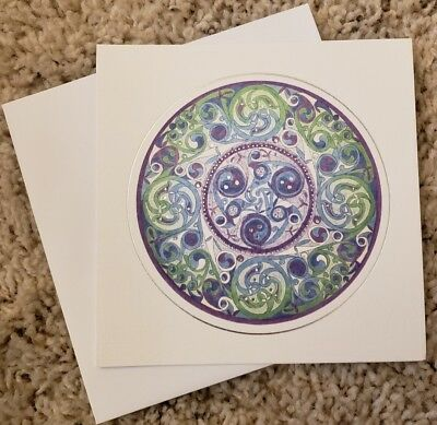 "Beautiful ""Celtic Window"" by Mary McNobe, blank notecard, made in Ireland"