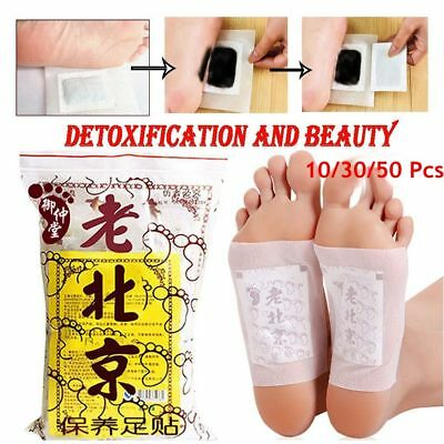10/30/50 Pcs Herbal Improve Sleeping Detox Foot Patches Detoxifying Pads