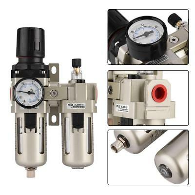 Air Compressor Oil Lubricator Water Separator Trap Filter Regulator Gauge Kit