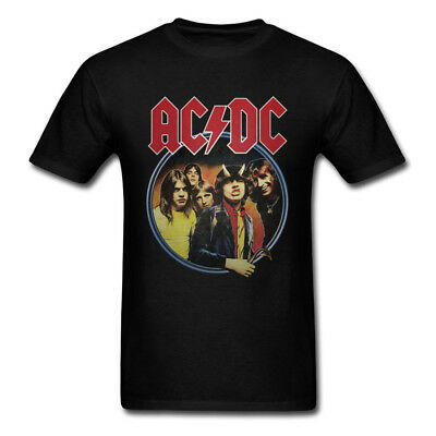 NEW AC/DC Highway to Hell Men's T-Shirt Hard Rock and Roll Men Shirt 100% Cotton