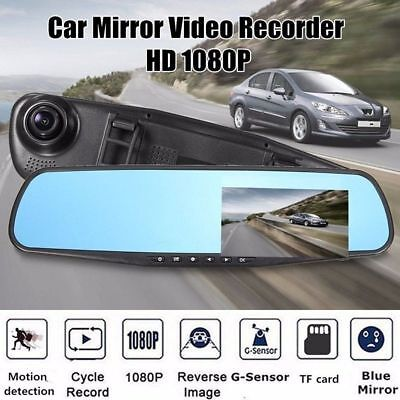 HD 1080P Auto DVR Rearview Rückspiegel 2,7'' Video Dashcam Recorder KFZ Kamera