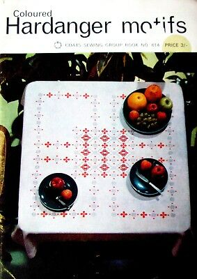 COLOURED HARDANGER MOTIFS - Stitches Designs Charts Patterns - Free Dom Post
