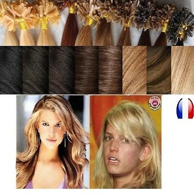 25 50 100 150 Extensions Cheveux Pose A Chaud Remy Naturels 49-66 Cm 0.5-1G Aaa