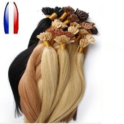 25 50 100 150 Extensions Cheveux Pose A Chaud Remy Naturels 49-66 Cm 0,5G-1G Aaa