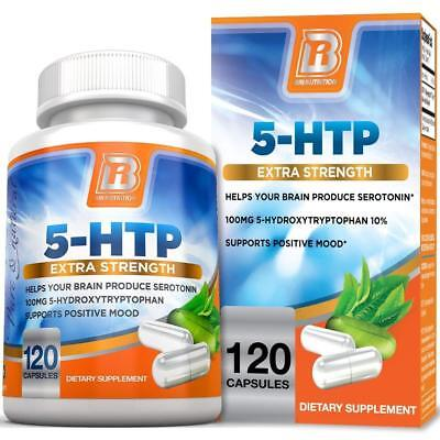 BRI Nutrition 5 HTP 100mg 120 Vegetarian Caps | Depression, Anxiety, Sleep Aid