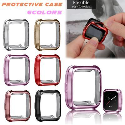 Clear TPU Smart Protector Cover Protective Skin Bumper Case For Fitbit Versa