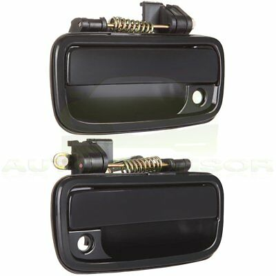Pair Front Exterior Outer Outside Black Door Handles Fit 95 - 04 TOYOTA TACOMA