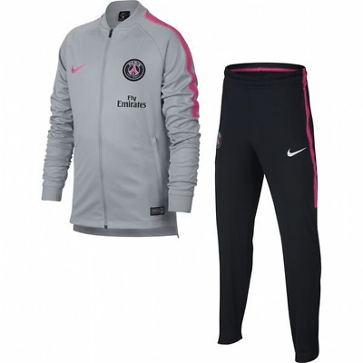 Nike PSG Paris Saint Germain Squad Knit Tracksuit 2018/19 - Grey - Mens