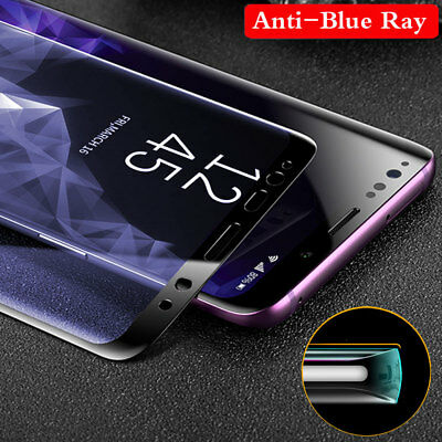 6D Curved Full Tempered Glass Screen Protector Film For Samsung Galaxy S9 S8 S7+
