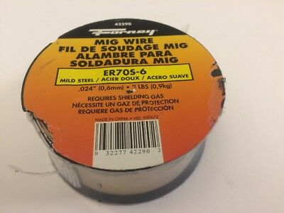 "2lbs Forney Mig Wire 42290; Mild Steel .024"" ER70S-6"
