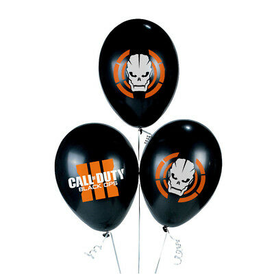 6PCS Call Of Duty Black Ops  Video Game Latex Party Decorations Balloons.