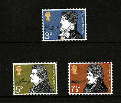 1971 Literary Anniv. NH Mint set of stamps SG884-6