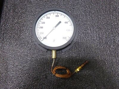 13G224 Analog Panel Mt Thermometer,200 to 450F (TJ)