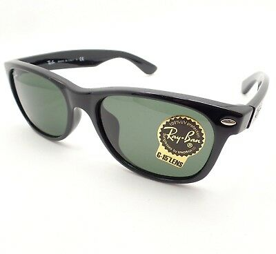 76b96e089d Ray Ban New Wayfarer 2132 F ASIAN FIT 901 Black G15 New Authentic Sunglasses