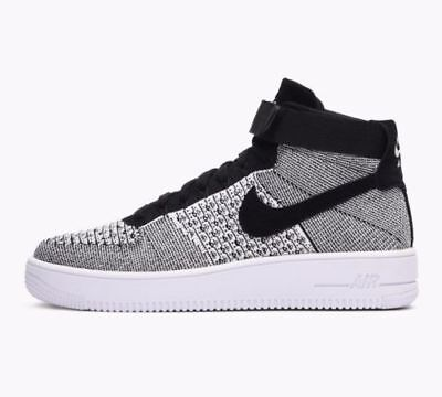 ffecbabe15bd MEN S NIKE AIR Force 1 AF1 Ultra Flyknit Mid OREO Trainers Black ...