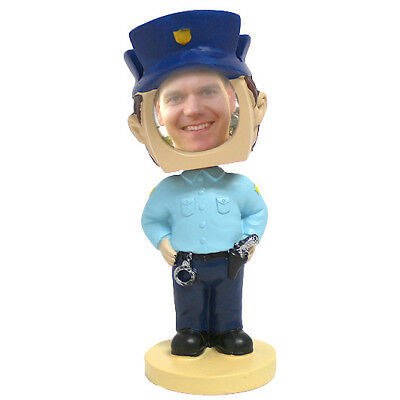 Policeman Police Officer Cop Picture Photo Frame Bobblehead Doll