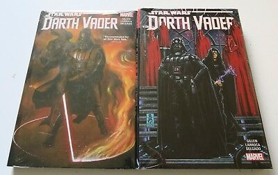 Star Wars Darth Vadar Vol. 1 & 2 Hardcover Marvel Graphic Novel Comic Book
