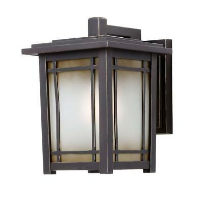 Home Decorators Port Oxford 1-Light Rubbed Chestnut Wall Mount Lantern