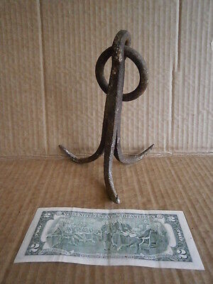 antique wrought triple hook