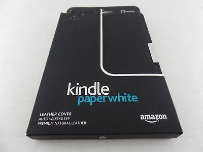 Amazon Kindle Paperwhite Leather Cover Case OEM Black Genuine