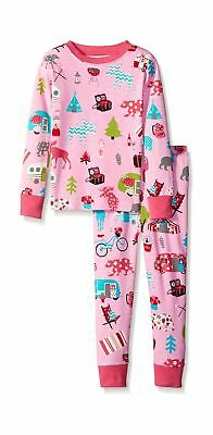Hatley Girl's Kids Pj Glamping Pyjama Sets Pink 8 Years