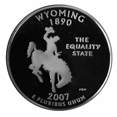 2007 S Proof Wyoming State Quarter With DIY Slab Clad Dp Cameo Combined Shipping