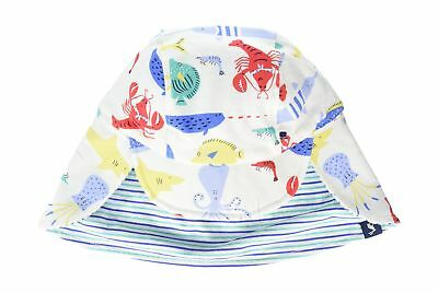 Joules Baby Boys' Sunny Hats Off-White (Cream Seaside) 6 - 12 Months