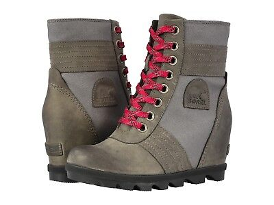 60e16dd9308 SOREL WOMEN S LEXIE Wedge Lace Up Wedge Boot Quarry US Sizes ...