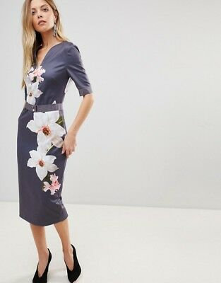 b886e27e NEW $315 TED Baker Bisslee Pencil Dress in Chatsworth Bloom TB-3 US ...