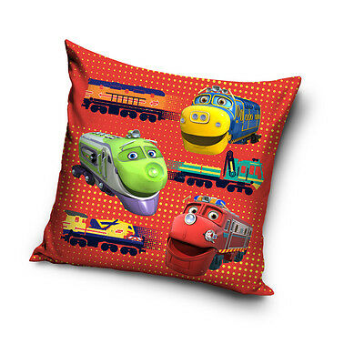 NEW LICENSED CHUGGINGTON TRAINS 04 cushion cover 40x40cm 100% COTTON pillowcase