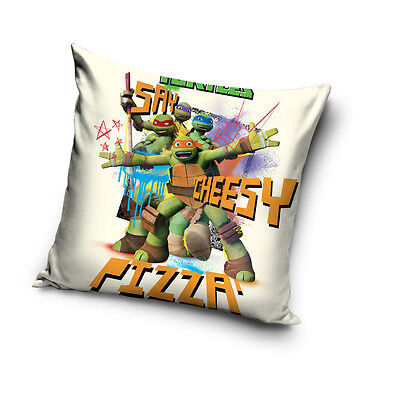 NEW Teenage Mutant NINJA TURTLES cream cushion cover 40x40cm 100% COTTON