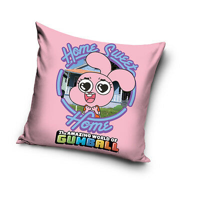 NEW THE AMAZING WORLD of GUMBALL Cutie pink cushion cover 40x40cm 100% COTTON