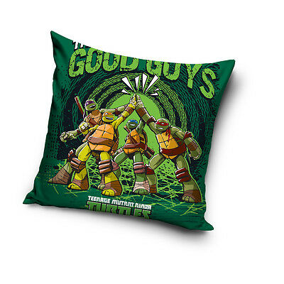 NEW Teenage Mutant NINJA TURTLES green cushion cover 40x40cm 100% COTTON