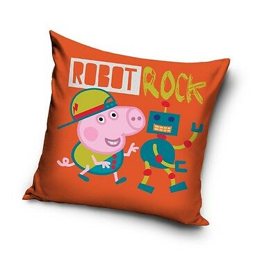 NEW GEORGE Robot Rock PIG Peppa Pig cushion cover 40x40cm 100% COTTON