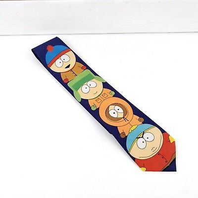 "Ralph Marlin 1998 South Park Neck Tie ""The Boys"" Cartman, Kenny, Stan & Kyle"