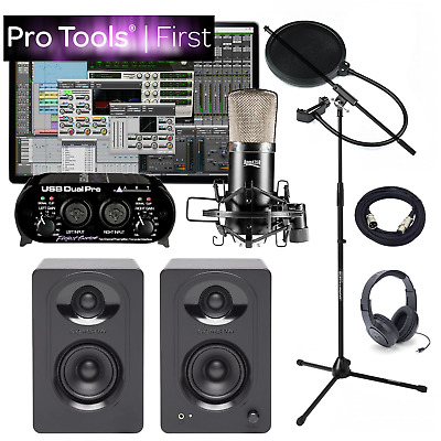 NEW Pro Tools First Home Recording Studio Bundle M30 APEX 435B USB Interface