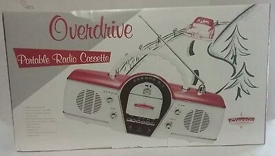 NEW NIB Classic Cicena Overdrive Portable AM/FM Cassette Radio Stereo System