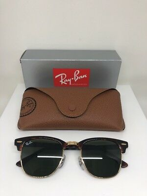 48bc9cad9d New Ray Ban RB3016 Clubmaster Sunglasses W0366 51mm Tortoise W  Green G-15  Lens