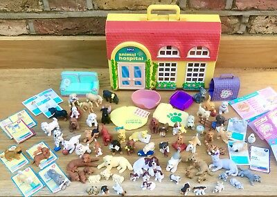 Huge 90s Puppy In My Pocket Toy Kitty Pony Bundle Animal Hospital