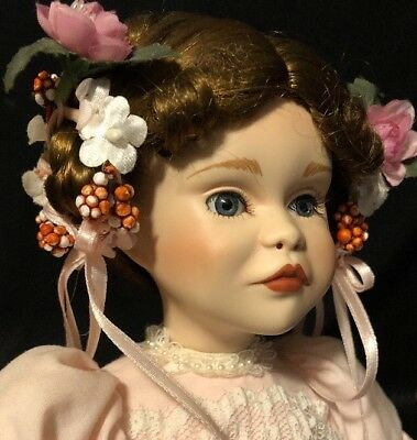 """14"""" Porcelain Doll A Party for Sarah Paradise Galleries With Stand PATRICIA ROSE"""
