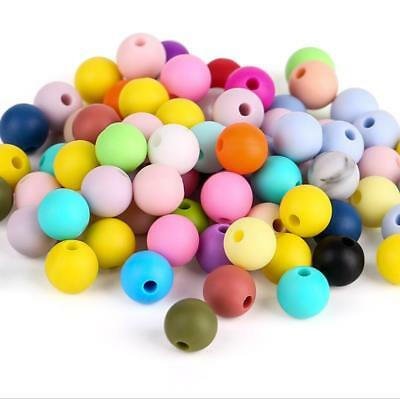 10X Food grade Silicone loose Beads DIY Baby Teether Pacifier chain  Accessories