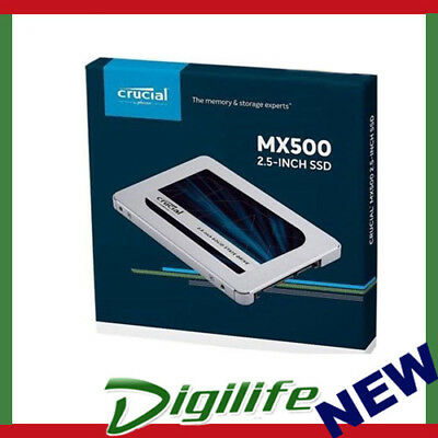 """Crucial MX500 1TB SATA 2.5-inch 7mm (with 9.5mm adapter) 2.5"""" Internal SSD"""