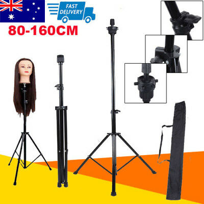 Adjustable Wig Head Stand Mannequin Tripod Hairdressing Training Holder + Bag