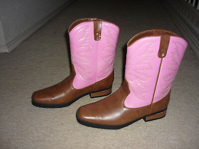 5c7f68640f4 SMARTFIT PINK & Brown Cowboy Boots, Western Rodeo, Cowgirl Women Sz 7.5