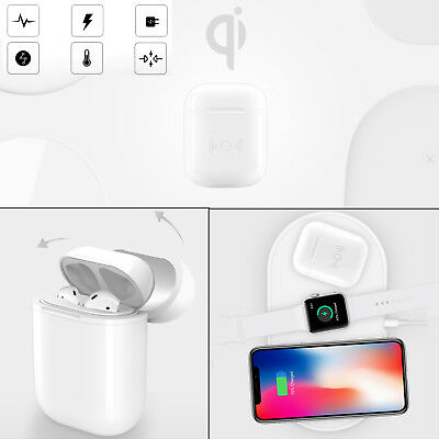 Qi A5 Wireless Charger White Storage Case Box For Apple AirPods Safety Charging