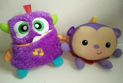 Fisher Price Giggles and Growls Monster & Giggle Gang Purple Monkey Ginger