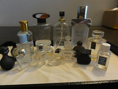 18 Vintage Empty Perfume Bottles,all in good condition