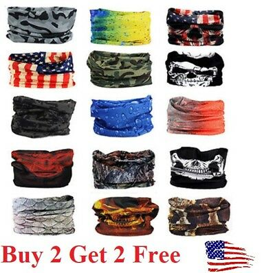 Headband Hair Band Headwrap Face Mask Bandana Neck Shield Gaiter Yoga Gym SPF40